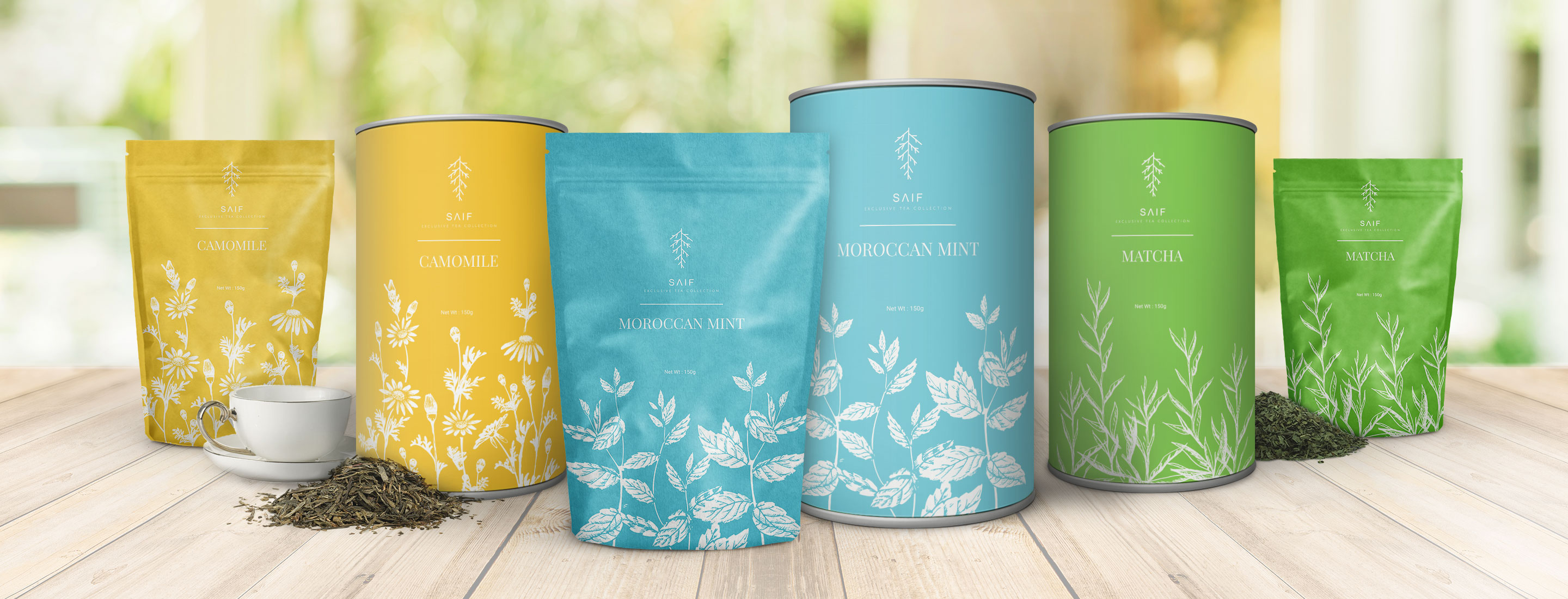 Saif Exclusive Tea Collection</br>  Packaging Design