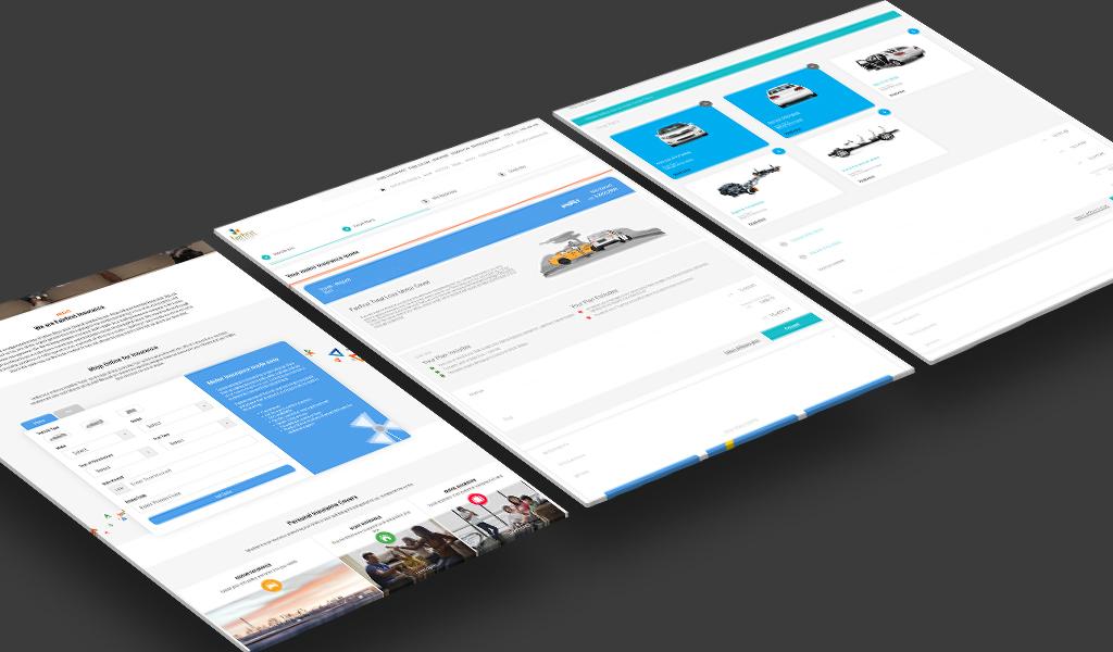 Fairfirst insurance corporate website on tablet