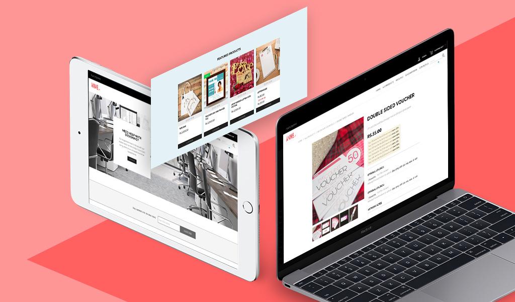 Anim8 website design on laptop