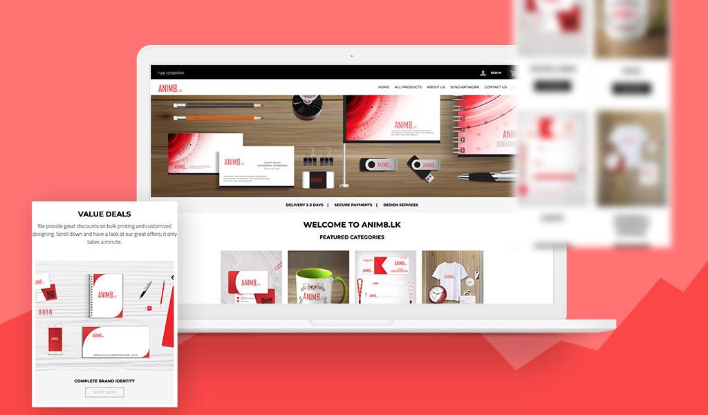 Anim8 Website designs