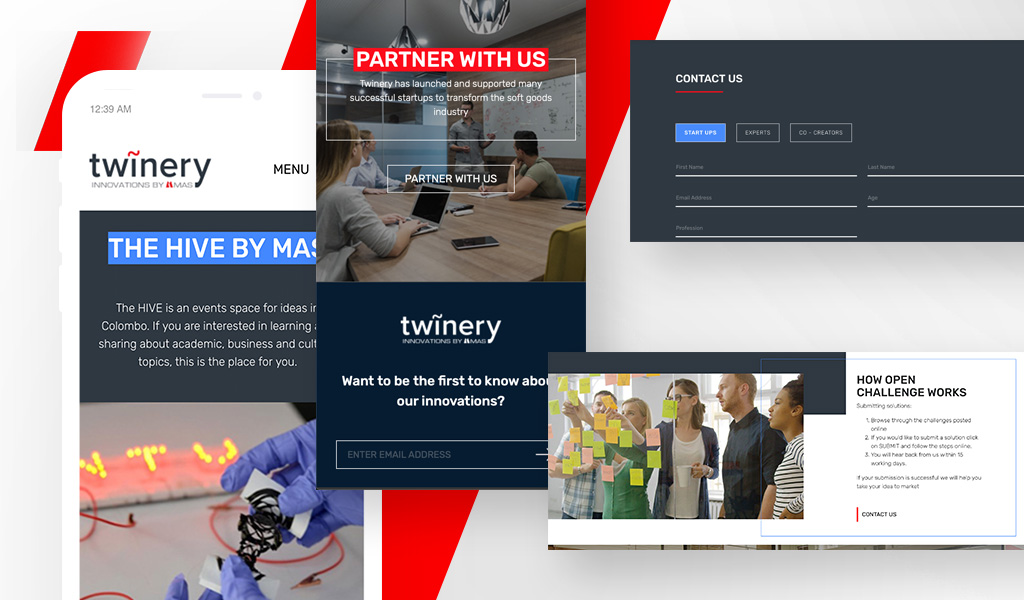 Twinery website collage