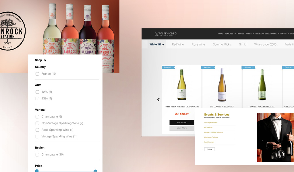 Wineworld products on website