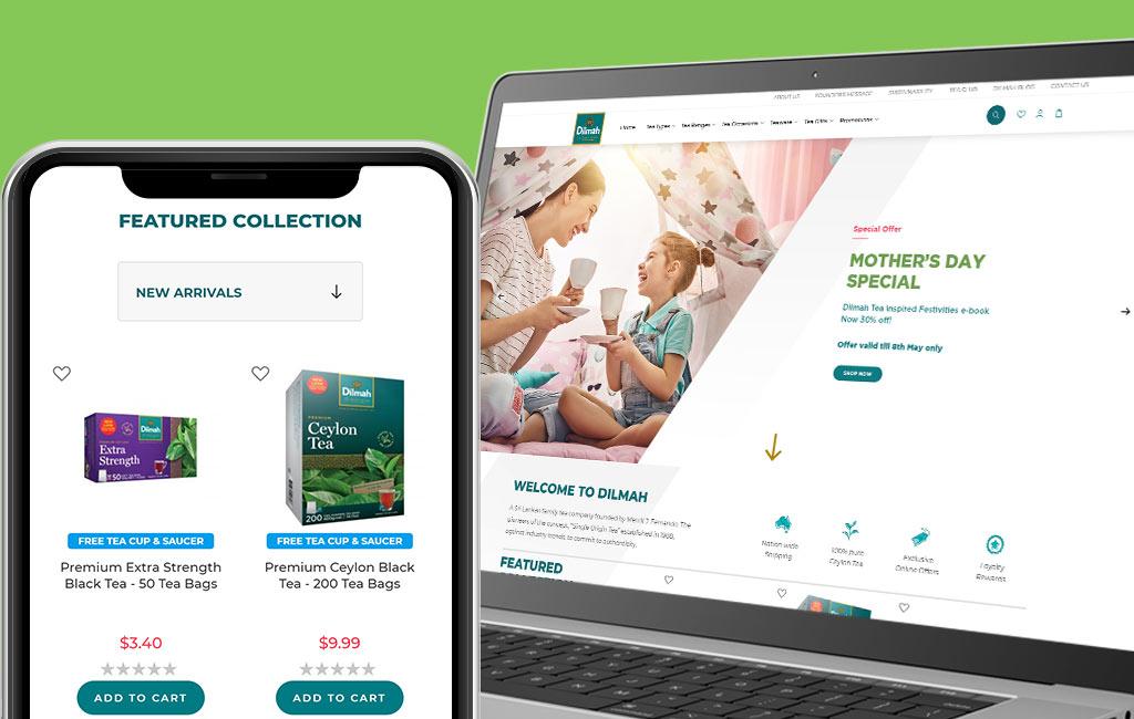 Dilmah Australia Web Design