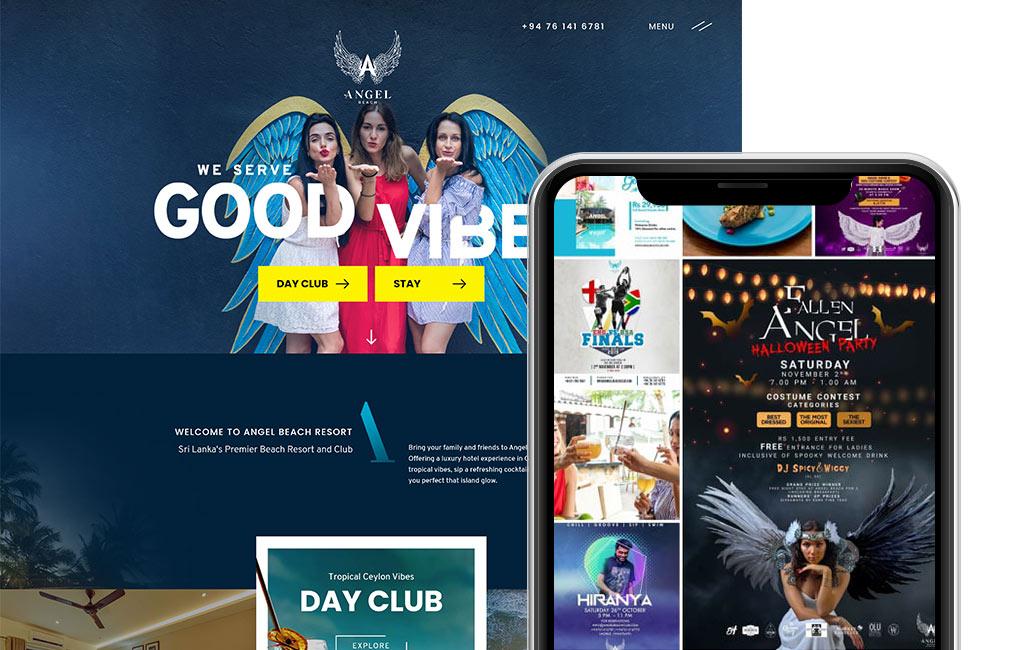 Angel Beach website design