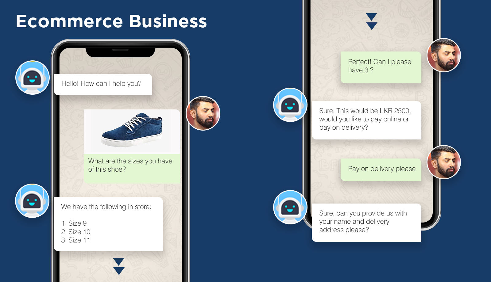 chatbot conversation about purchasing a shoe - Antyra Solutions